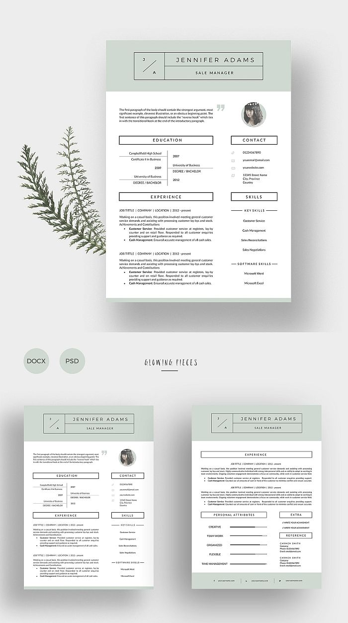 2 Page Resume Cover Letter Cover Letter For Resume Cover Letter Template Lettering