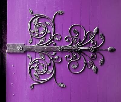 Delicate craftmanship on this stunning door hinge.