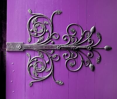 I long for hand-forged barn door hinges. // everything about this is exquisite. // I can see this as the wheelhouse door hinge. (Though it might be too girly for B)