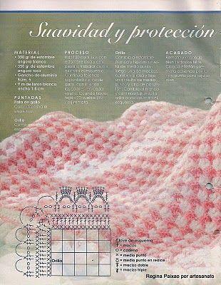 Crochet pink baby blanklet ❤️LCB-MRS❤️ with diagrams.---lo spazio di lilla: Copertina per neonato bicolore all'uncinetto