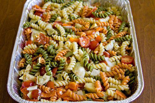 Ensalada de pastas tirabuzon de verduras