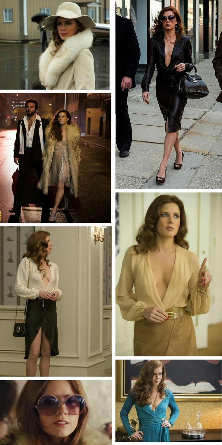 Me encanta este vestuario, la silueta esta super bien formada! /american hustle costumes, michael wilkinson, amy adams costumes, movie american hustle, 70 era, costume