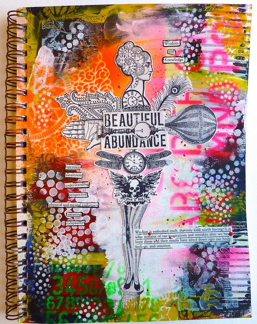 I like the untidiness and colour use and the collage style