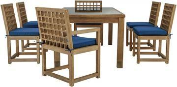 Martha Stewart Living™ Deer Isle 7-Piece Outdoor Dining Set - Patio Dining Sets - Wood Patio Dining Set - Outdoor Dining Sets   HomeDecorators.com