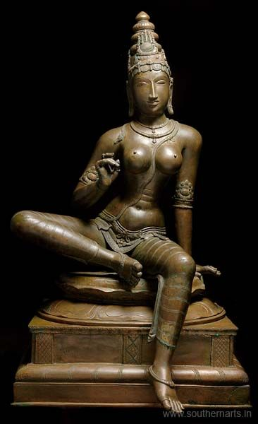 SEATED BHOGASHAKTHI Hindu goddess of all goddesses; wife of Shiva. > southernarts.in