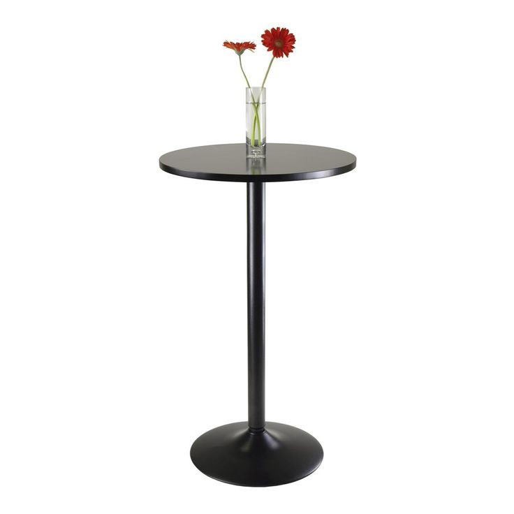 Shop Winsome Wood  20123 Obsidian Round Pub Table at Lowe