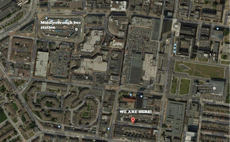 Find us at 16 Baker Street, Middlesbrough. Just a short walk from the bus station and MIMA art gallery!