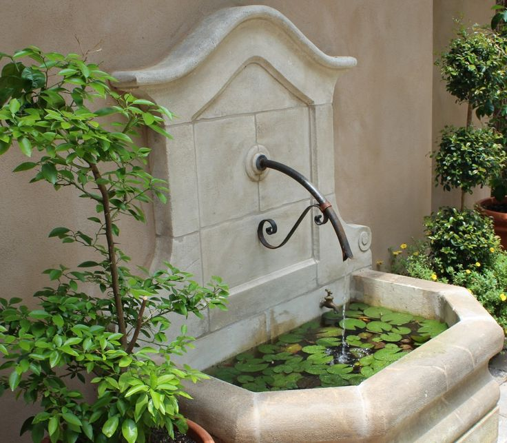 french limestone fountain