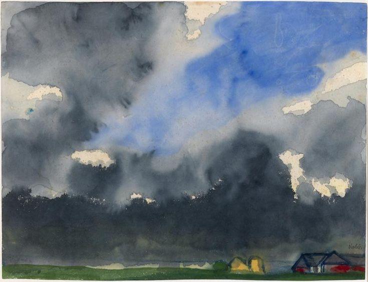Emil Nolde, Rain over a Marsh, c.1938. © Nolde Stiftung Seebüll