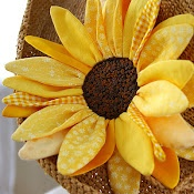 love this! huge fabric sunflower instructions