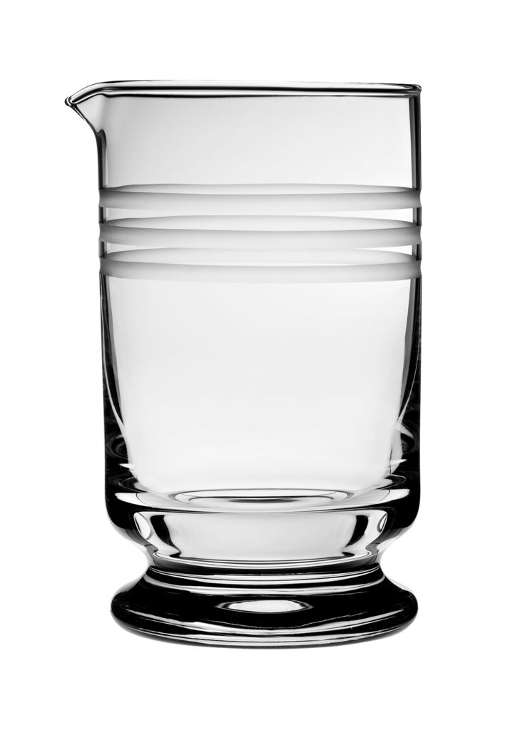 Calabrese Etched Footed Mixing Glass