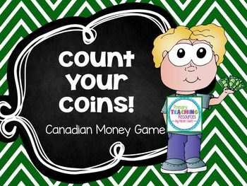 FREEBIE Canadian Money Game - Count Your Coins!