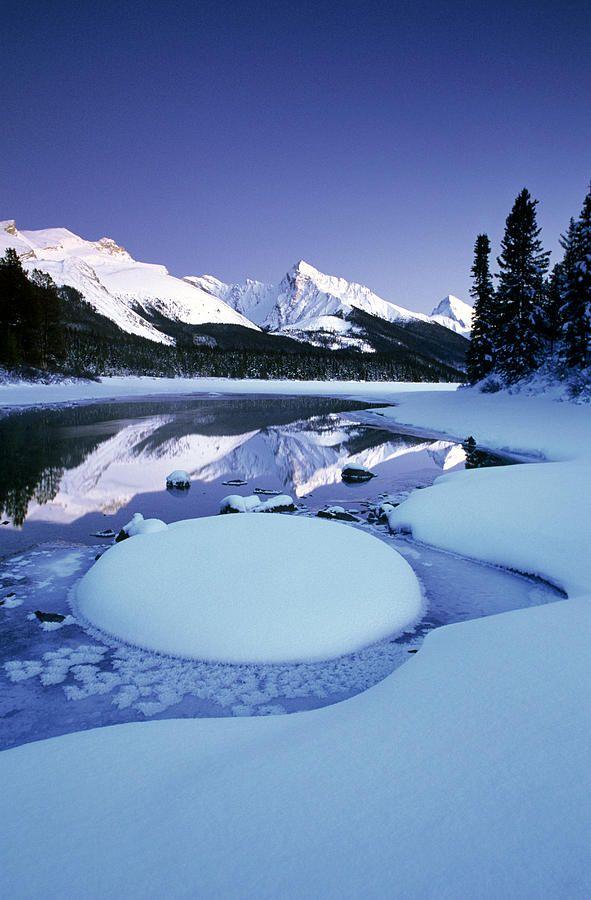 Maligne Lake, Jasper National Park, Alberta, Canada, by Darwin Wiggett, on fineart