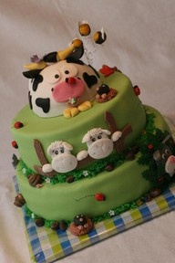 cow cakeKids Birthday, Birthday Parties, Baby Ideas, Farms Animal, Baby Shower Themes, Theme Cake, Cows Cake, Farms Cake, Birthday Cakes