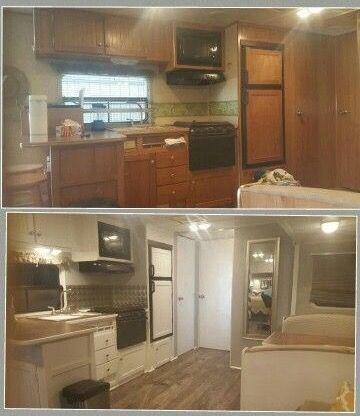 pingl par christina laplaca sur rv kitchens pinterest roulotte caravane et parc. Black Bedroom Furniture Sets. Home Design Ideas
