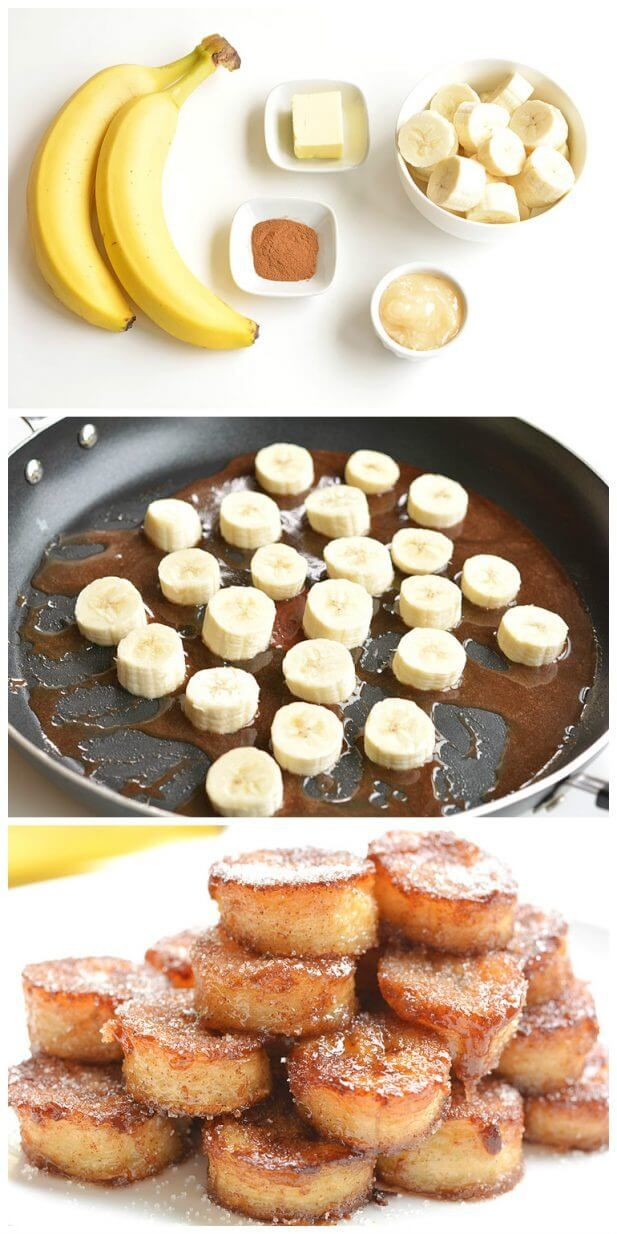 Pan Fried Cinnamon Bananas | Tasty Food Collection