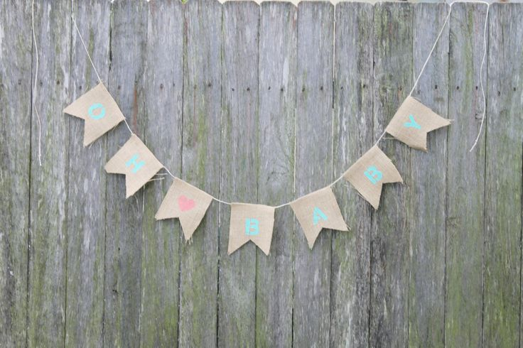 """Baby Shower Bunting. """"OH BABY"""" with Heart. Mint and Coral Baby Shower Decoration. Birth Announcement. Maternity Shoot. Newborn Photo Prop by BabysGotCakeGifts on Etsy"""