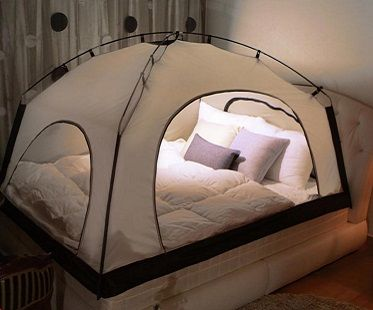Winter bed times just got amazing with these indoor bed tents! Release the big kid in you and get one now for your bedroom! They're perfect for conserving heat and will keep you nice and warm through the night.