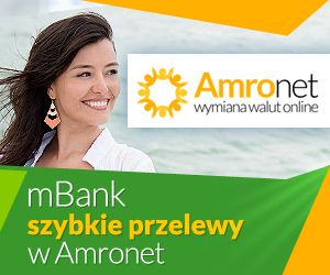 Amronet.pl I. Najważniejsze elementy oferty platformy Amronet:  darmowe przelewy w PLN do wszystkich banków w Polsce,  darmowe przelewy walutowe do banków partnerskich