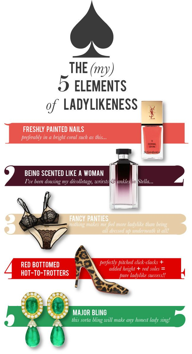 The 5 elements of Lady-Likedness