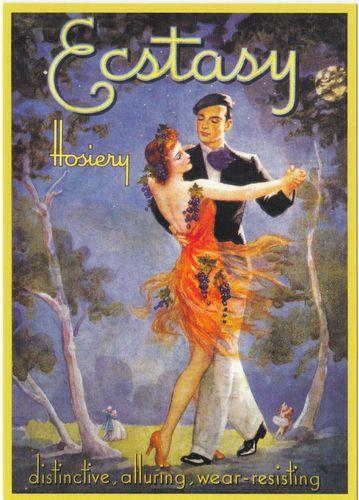 Collectable Cards: Robert opie advertising postcard - ecstasy hosiery