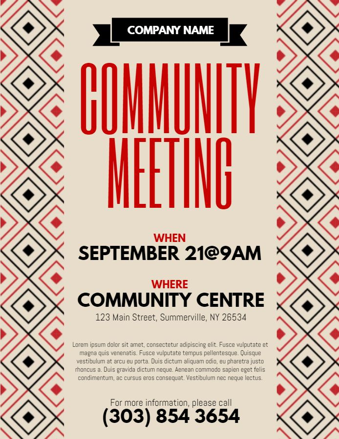 Community Meeting Flyer Template from i.pinimg.com