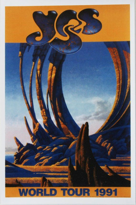 1991 Yes Union World Tour Poster Rare Vintage Classic In 2020