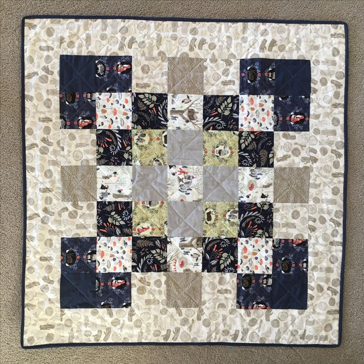 Rae Ritchie Foxtail Forest baby quilt for Louis