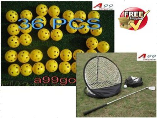 UK Golf Gear - A99 golf chipping net+ 36 air flow balls