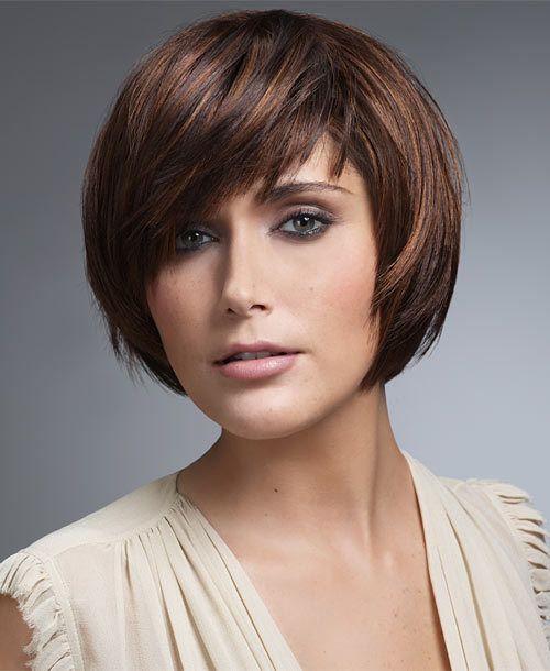 coiffure frange en biais