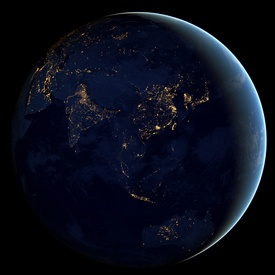 NASA Releases Jaw-Dropping Satellite Pics of Earth at Night. | Don't know when they released it, but it's definately jaw-dropping.