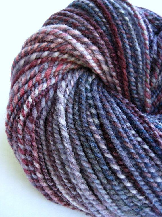 hand spun yarn handspun yarn hand dyed yarn by WeeChickadeeWoolery
