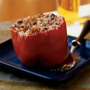 Vegetarian Stuffed Peppers Recipe: Myrecipes Com, Cooking Lighting, Vegetarian Stuffed Peppers, Stuffed Peppers Recipe, Stuffed Belle Peppers, Healthy Food, Health Recipe, Stuffed Bell Peppers, Red Belle Peppers