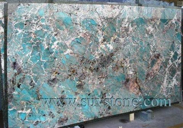 Amazonite Granite Slab Kitchen Island In 2019 Blue