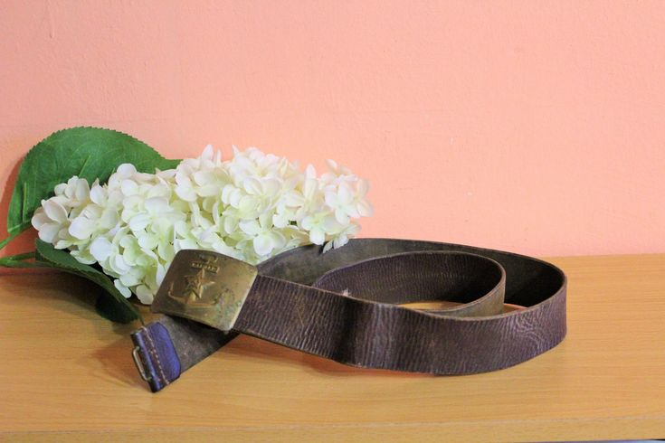 Vintage Original Russian Soviet Navy Army Leather Belt, Military Soldiers Belt, Soviet Union Uniform, CCCP Collection by Grandchildattic on Etsy
