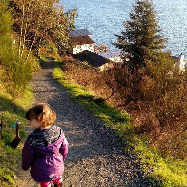 Little miss independence insisted she didn't need my help walk home...and yes, she made it down the cliff by herself.