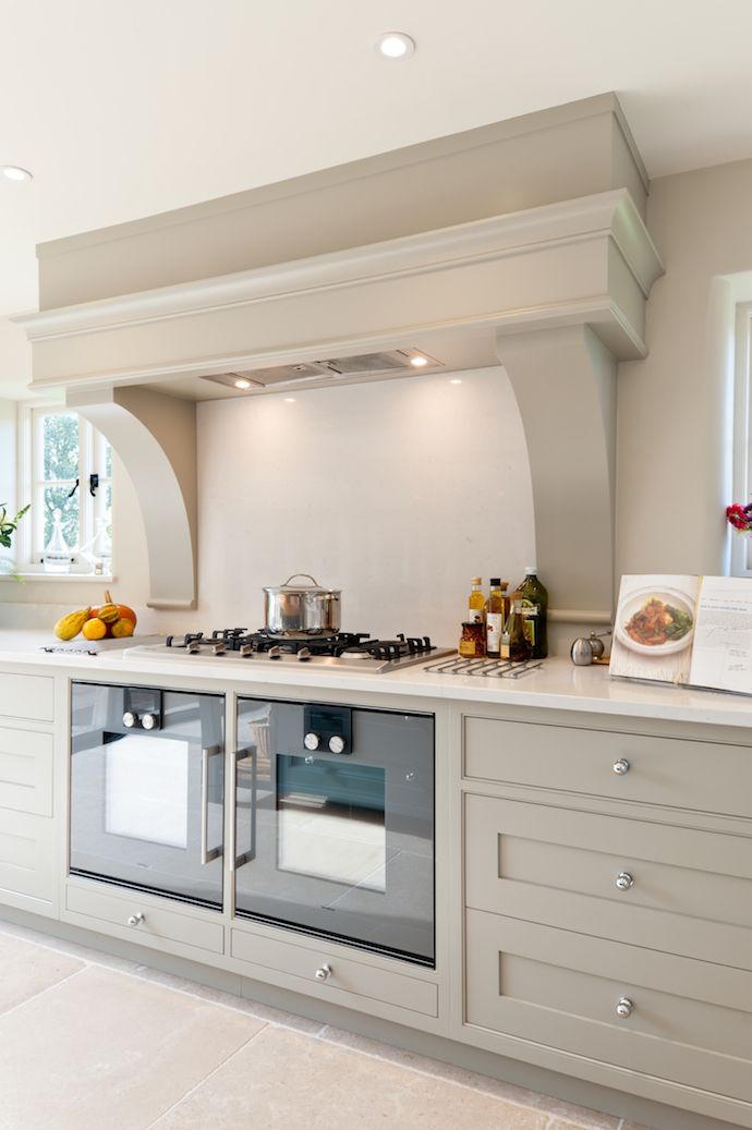 hardwick white and misty carrera worktop kitchen