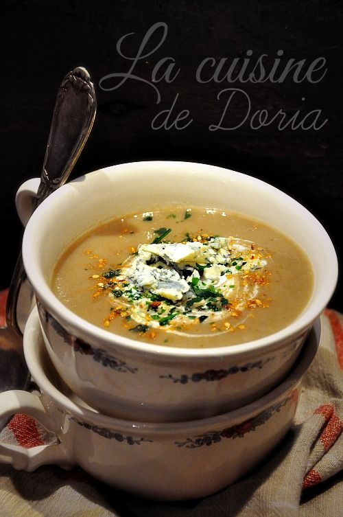 Velouté de champignons au bleu d'Auvergne - La cuisine de Doria