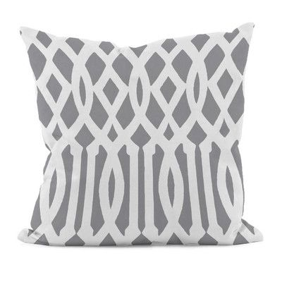 "Varick Gallery Carnell Decorative Synthetic Throw Pillow Color: Classic Gray, Size: 20"" H x 20"" W"