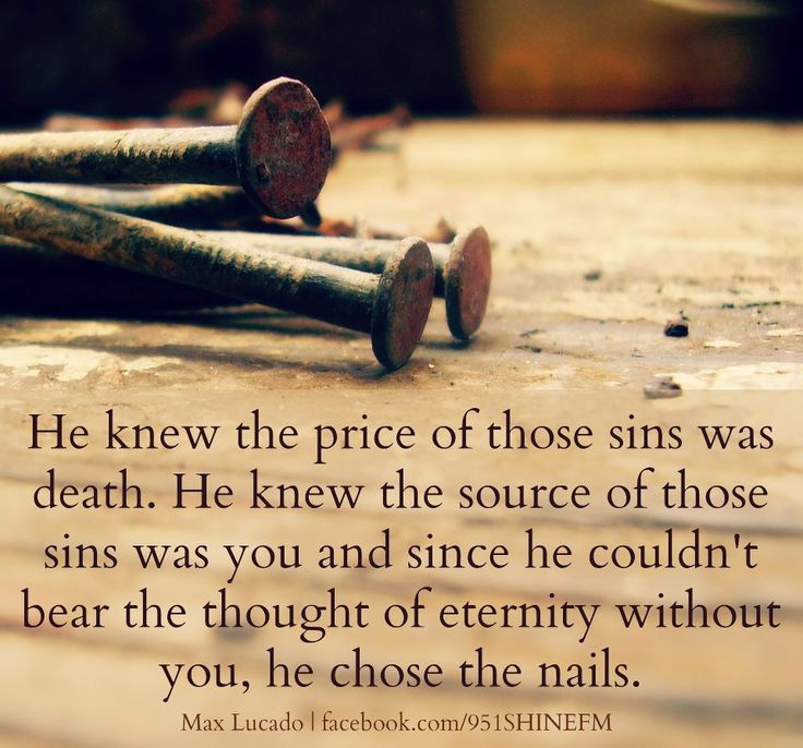 "NOW THAT'S TRUE LOVE. ... One of the Greatest Books I've Ever Read, ""He Chose the Nails"" by Max Lucado"