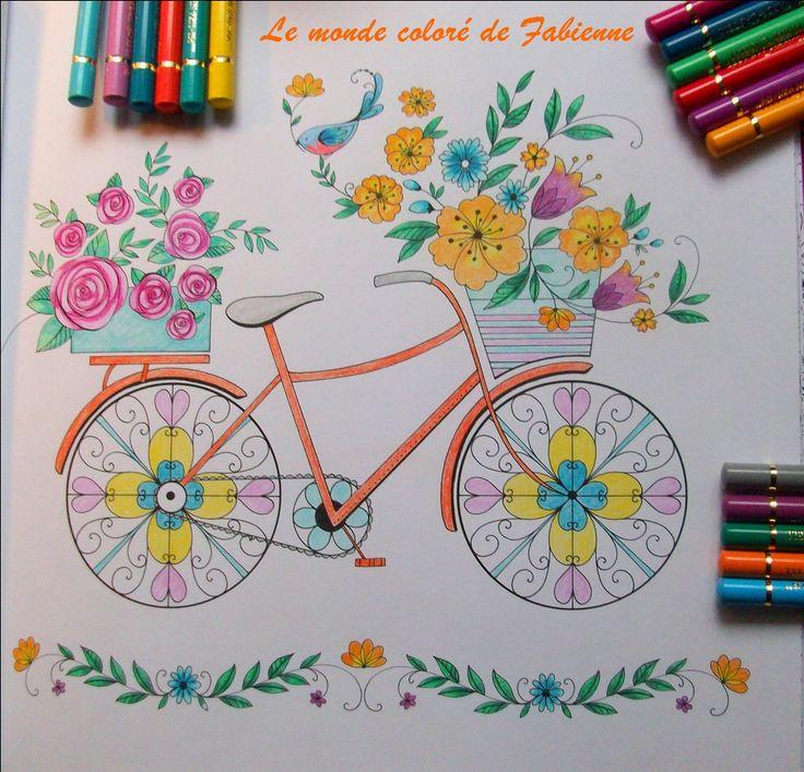 Joyous Blooms To Color Polychromos De Faber Castell