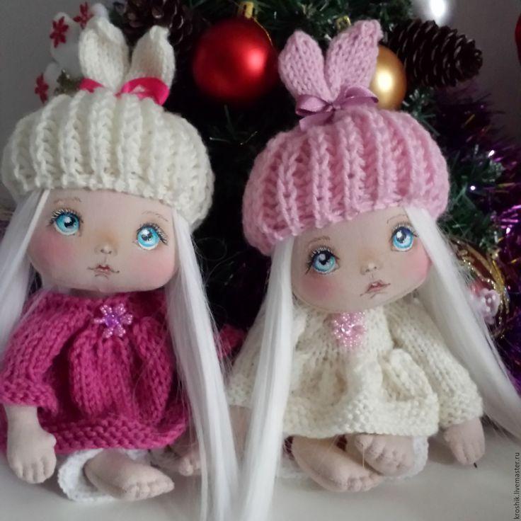 Купить Интерьерная кукла зайка - кукла, кукла в подарок, куколка на счастье, оригинальный подарок, подарок