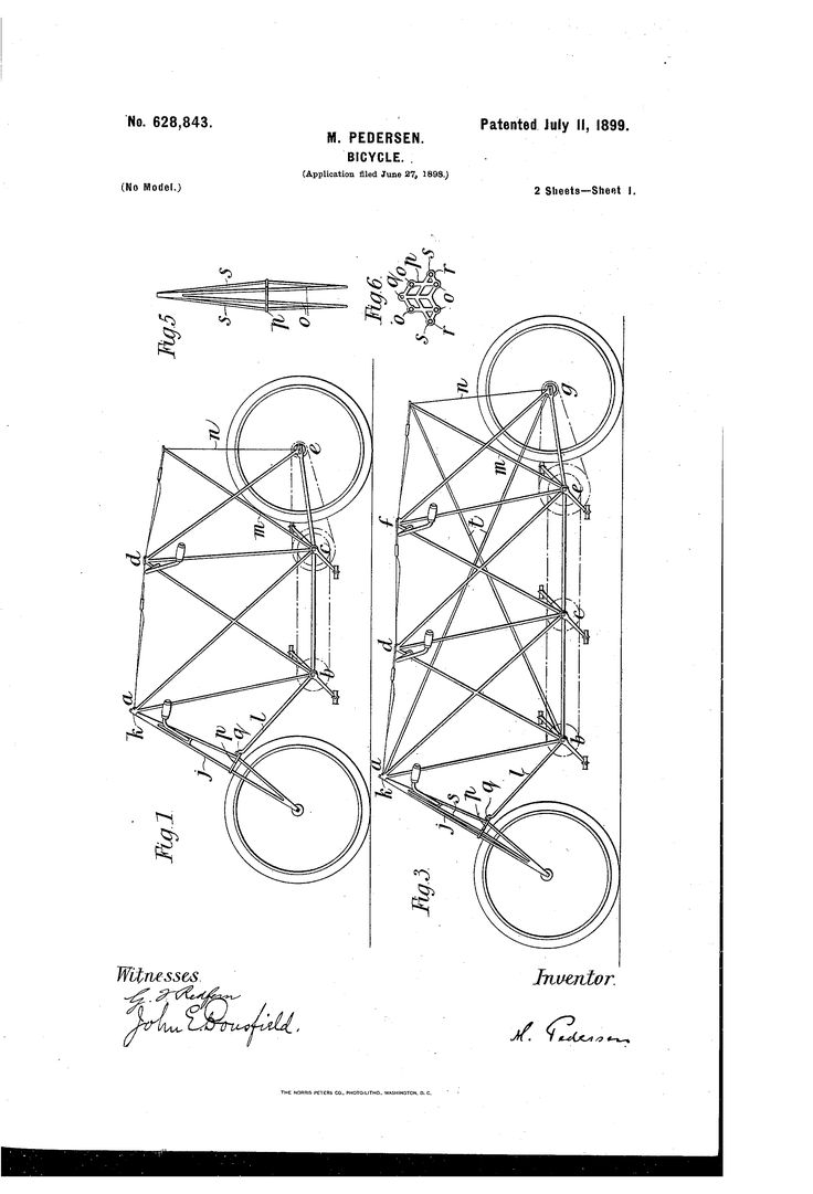 Patent us628843 bicycle patents