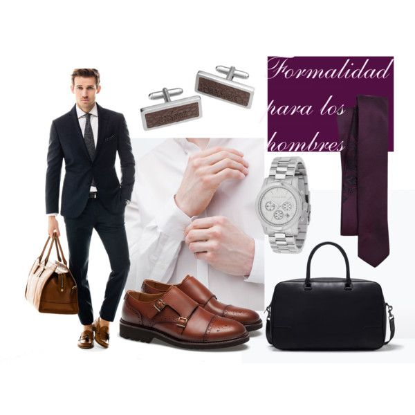 Traje para hombre by cbccbc on Polyvore featuring moda, Zara and Michael Kors