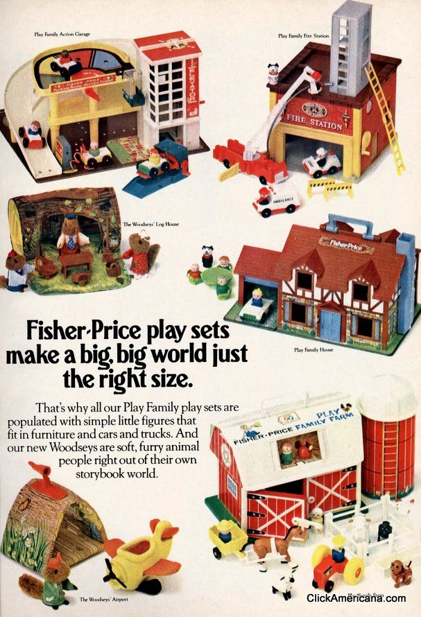 5 Fisher-Price Little People play sets (1971-1980)