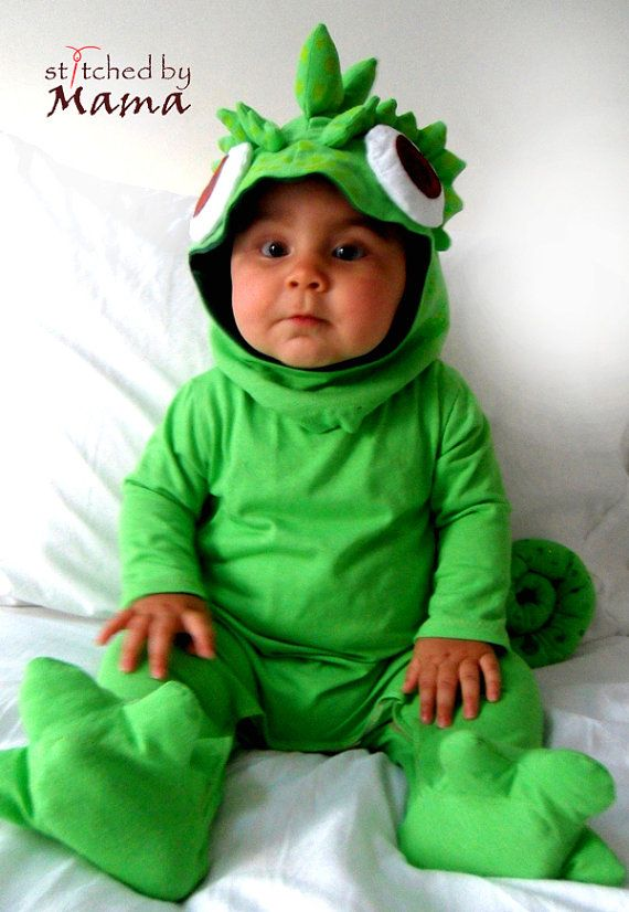 Rapunzel's Chameleon Pascal inspired baby by StitchedByMama