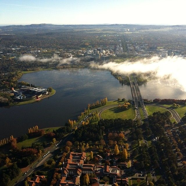 Beautiful #canberra from above the clouds with #balloonaloft #cbr #hotairballoon #canberraballoonfestival