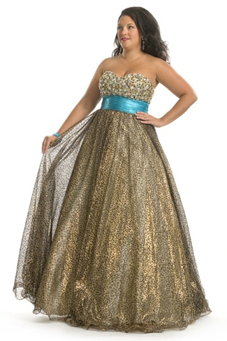 Party Time Formals, Plus Size Ball Gown.