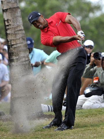 Tiger Woods shot a final-round 71 to win the Cadillac Championship. (via @USA TODAY; photo via Brad Barr/USA TODAY Sports)