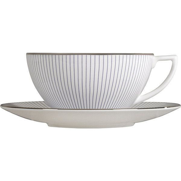 Jasper Conran @ Wedgwood Pinstripe large teacup ($26) ❤ liked on Polyvore featuring home, kitchen & dining, drinkware, bone china, wedgwood tea cup, british tea cups, wedgwood teacup and wedgwood